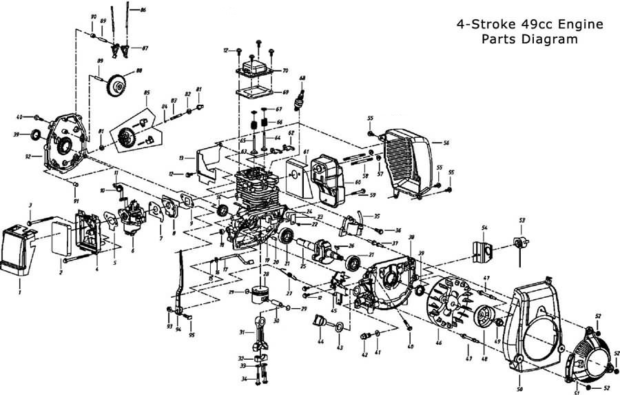 replacement parts 4 stroke parts 49cc engine parts page 1 Lister Petter Engine Parts Diagram 4 stroke 49cc engine parts